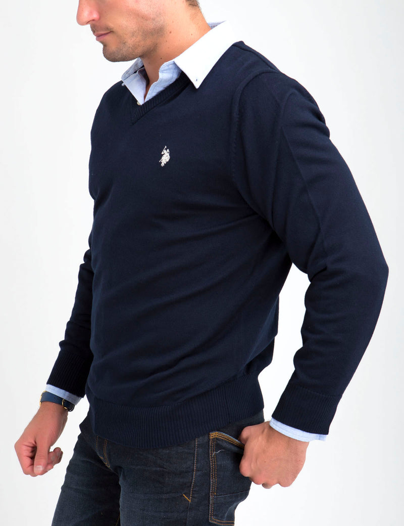 STRETCH V-NECK SWEATER