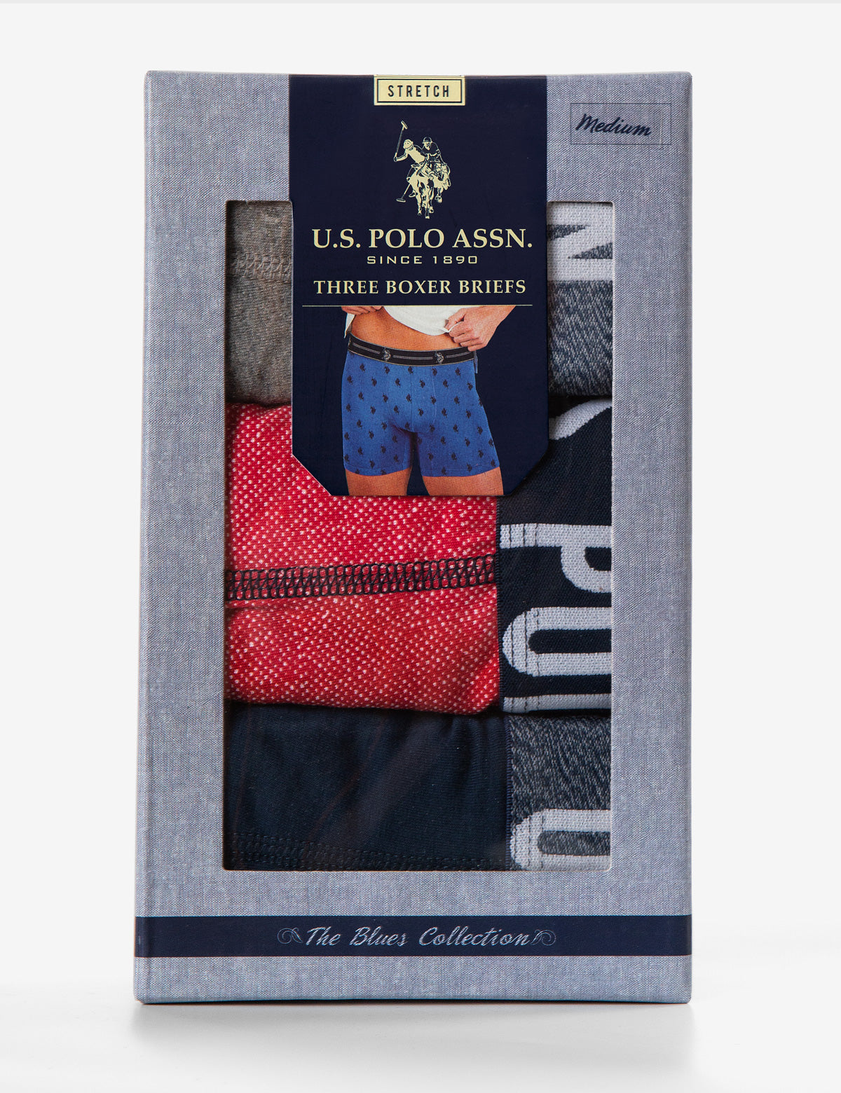 Blue Collection 3PK Stretch Boxer Brief - U.S. Polo Assn.