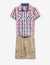TODDLER BOYS 2 PIECE SET: PLAID SHIRT & SHORTS - U.S. Polo Assn.