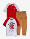 TODDLER BOYS 3 PIECE SET - TWO TEE-SHIRTS & JOGGERS - U.S. Polo Assn.