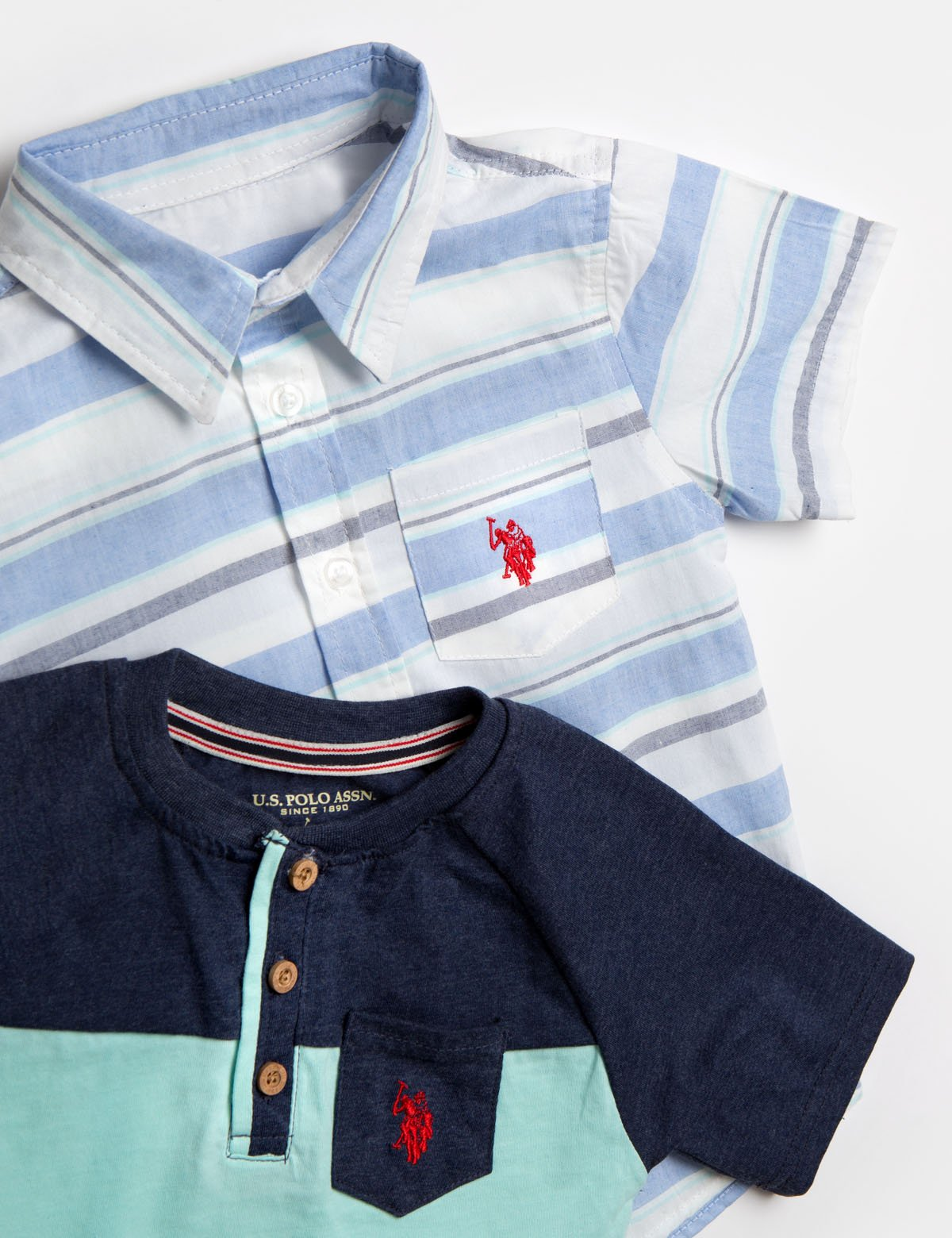 TODDLER BOYS 3 PIECE SET: SHIRT, TEE & JOGGERS - U.S. Polo Assn.