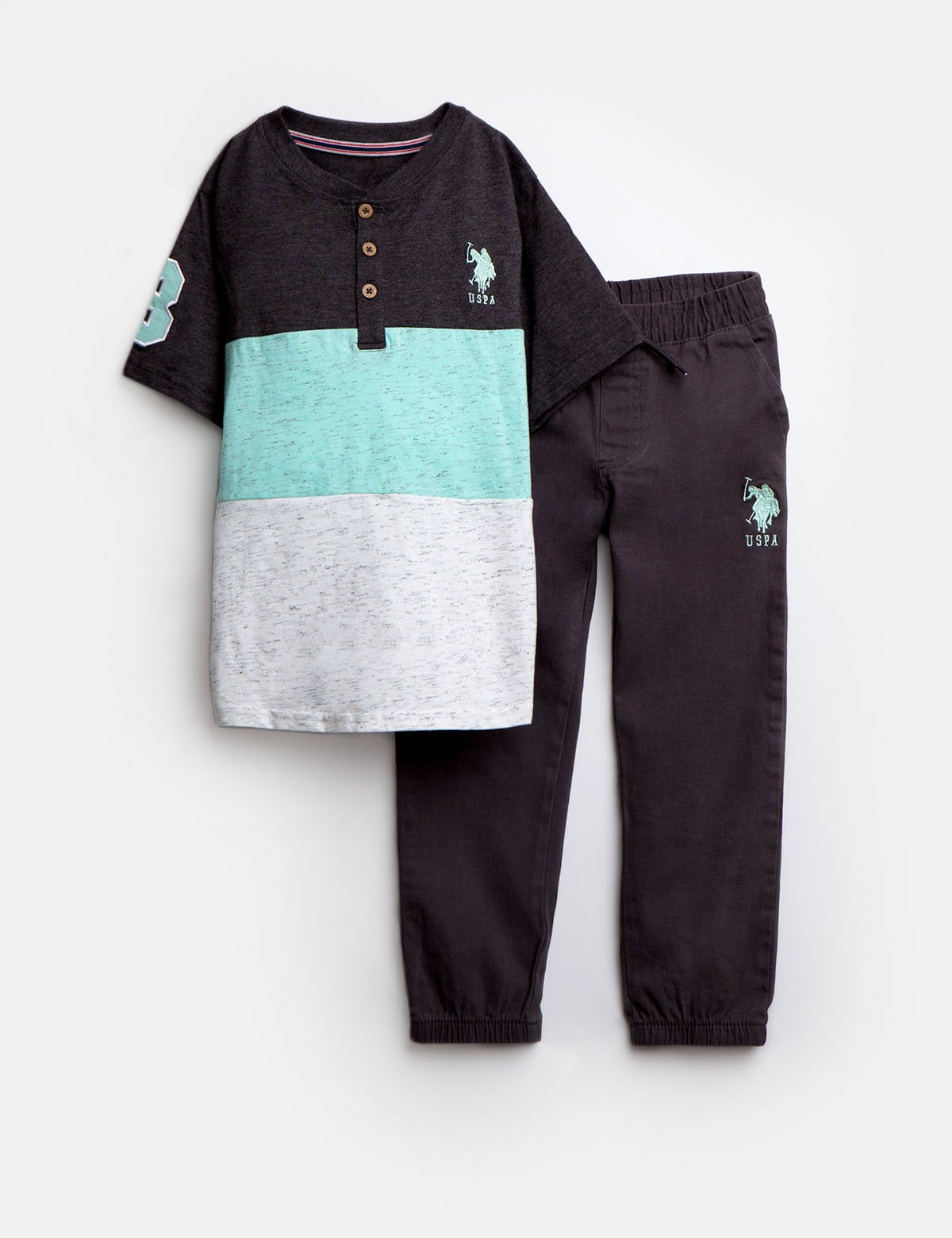 TODDLER 2 PIECE SET: TEE & JOGGERS - U.S. Polo Assn.
