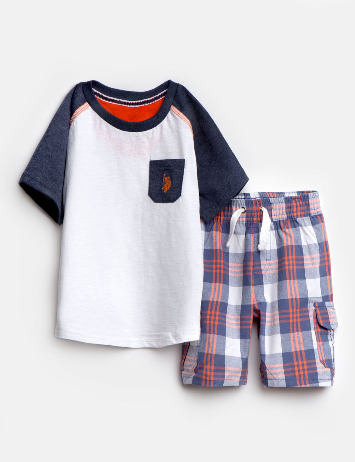 TODDLER BOYS 2 PIECE SET: TEE & SHORTS