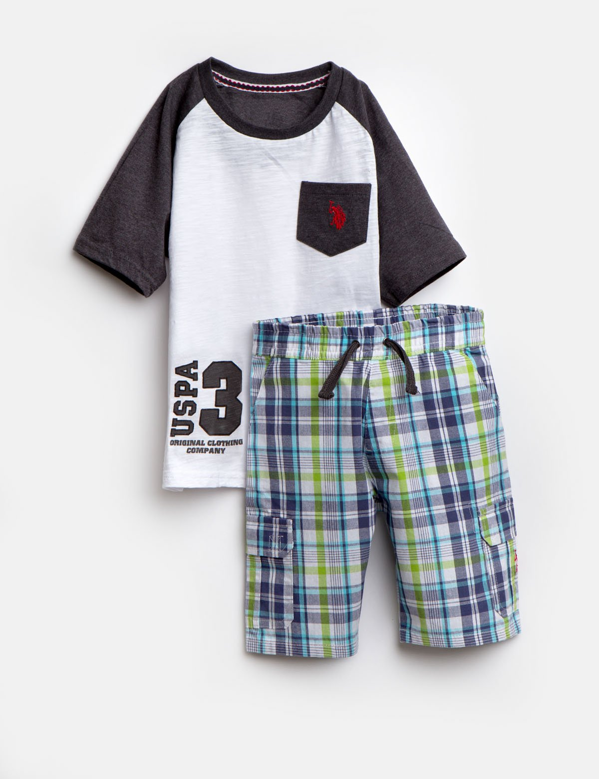 BOYS 2 PIECE SET: TEE & SHORTS