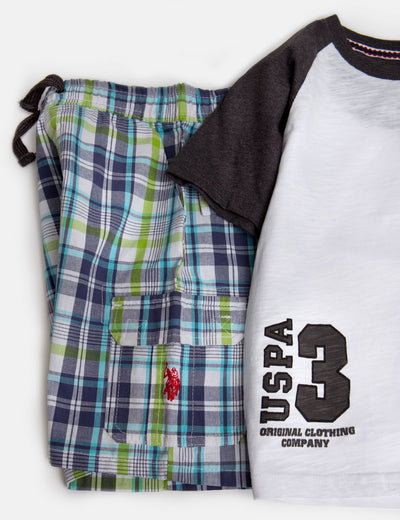BOYS 2 PIECE SET: TEE & SHORTS - U.S. Polo Assn.