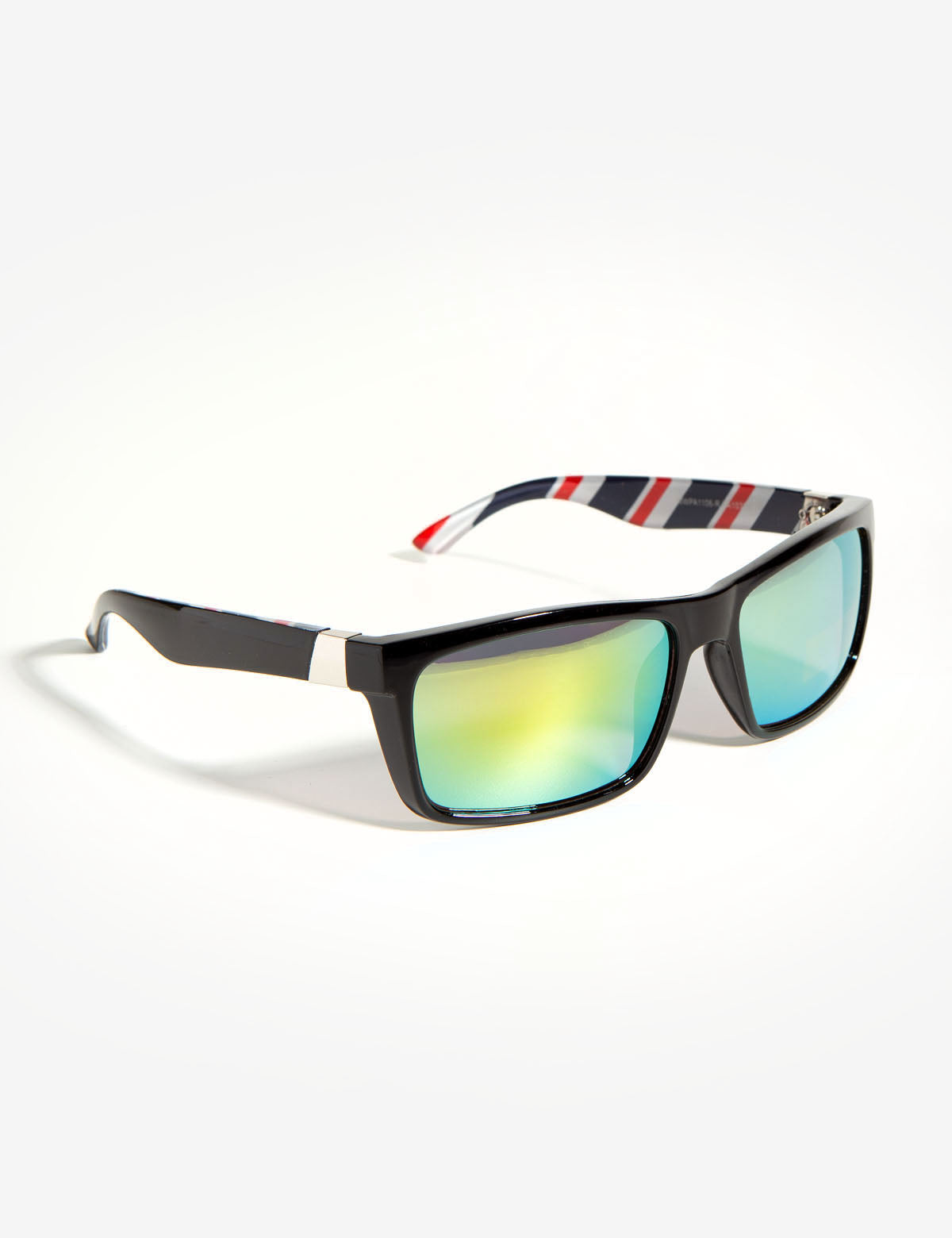 RECTANGLE BARBER PATTERNED SUNGLASSES - U.S. Polo Assn.