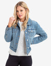 DENIM JACKET WITH FUR COLLAR - U.S. Polo Assn.