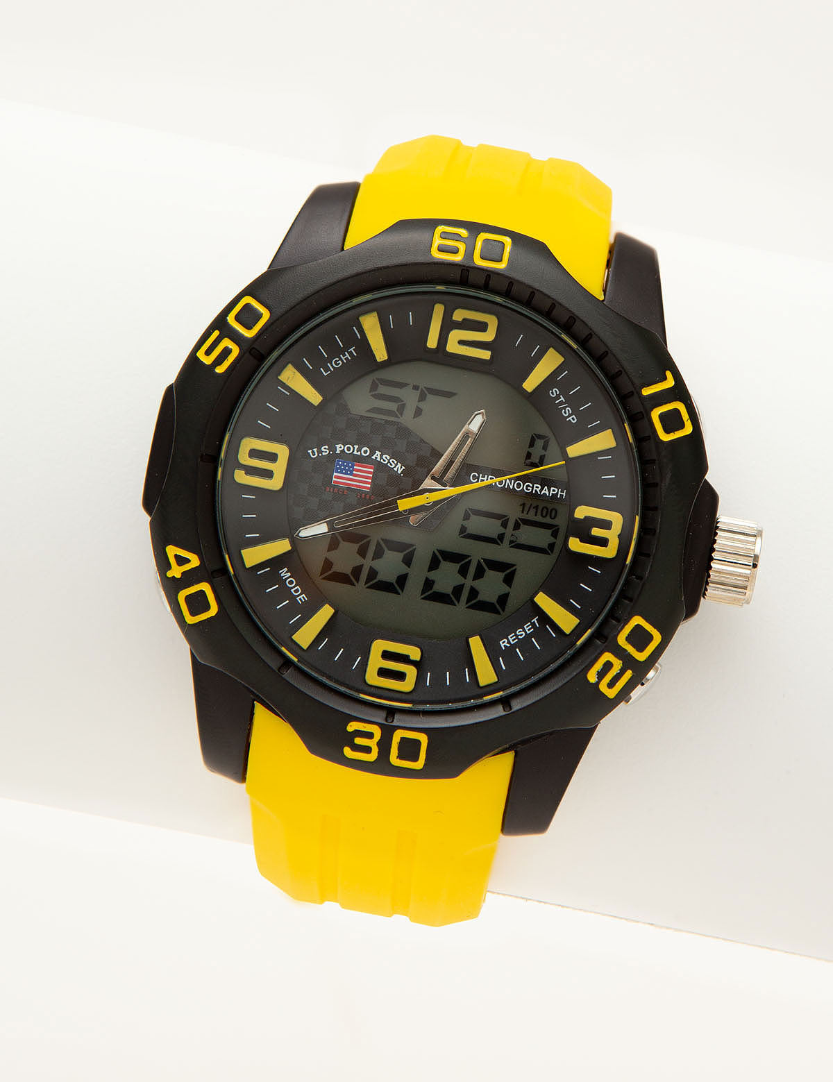 MEN'S YELLOW ANA DIGI SPORT WATCH - U.S. Polo Assn.