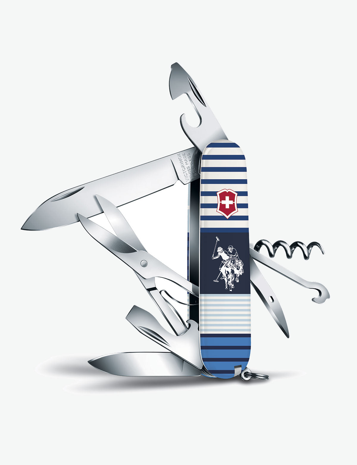 CLIMBER BLOCKED STRIPES 91MM SWISS ARMY POCKET KNIFE - U.S. Polo Assn.