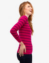 STRIPED CABLE KNIT V-NECK SWEATER - U.S. Polo Assn.