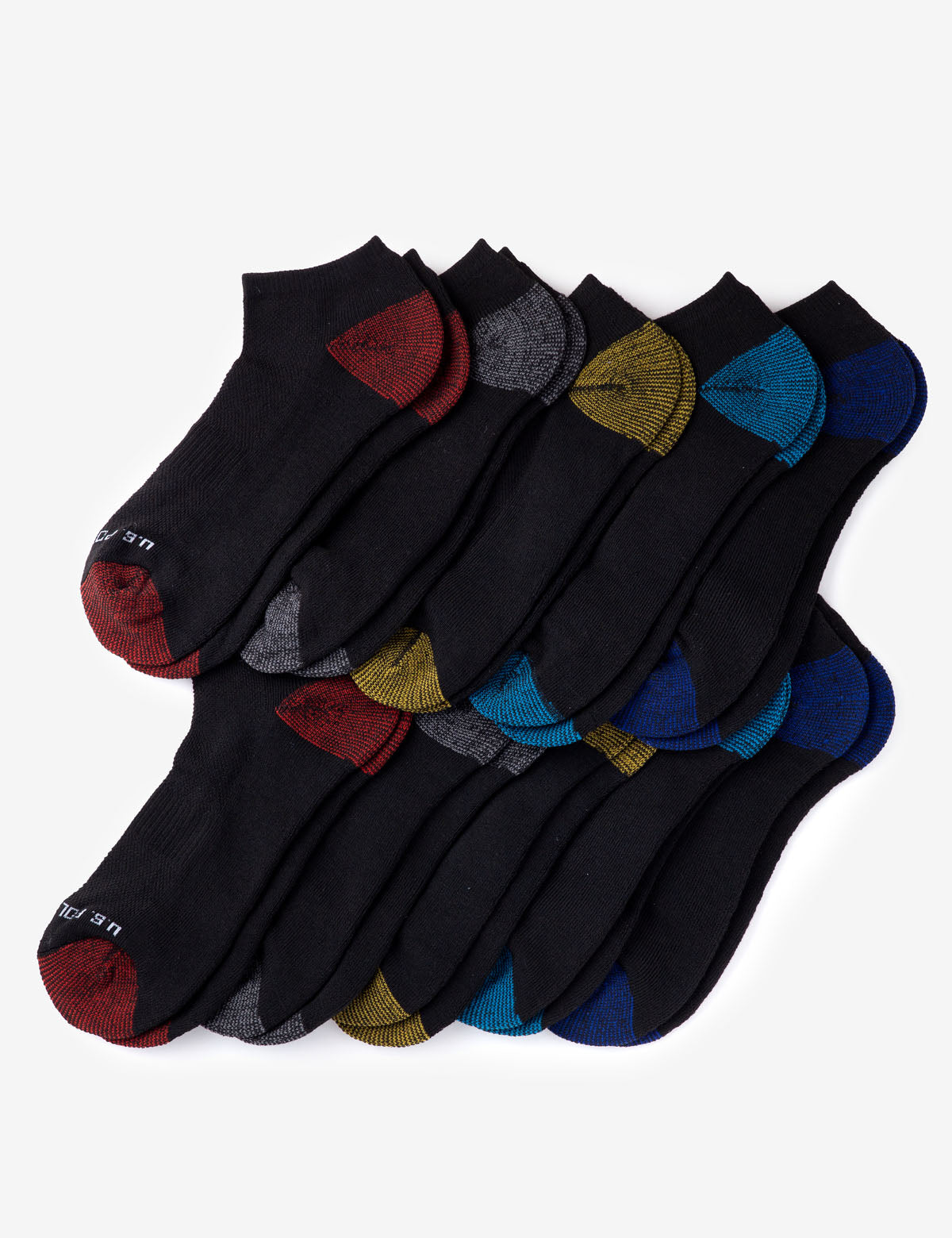 MENS 10 PACK PERFORMANCE LOW CUT SOCKS - U.S. Polo Assn.