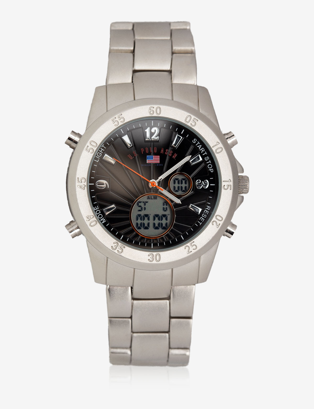 MEN'S SILVER LARGE FACED WATCH