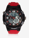 MEN'S SPORT ANALOG-DIGITAL WATCH WITH RED STRAP - U.S. Polo Assn.