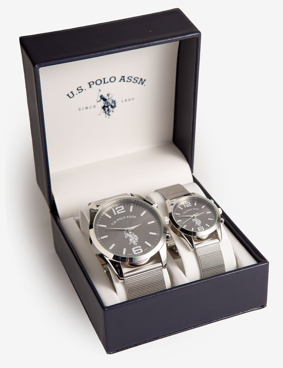 HIS AND HERS MESH STRAP WATCH SET - U.S. Polo Assn.