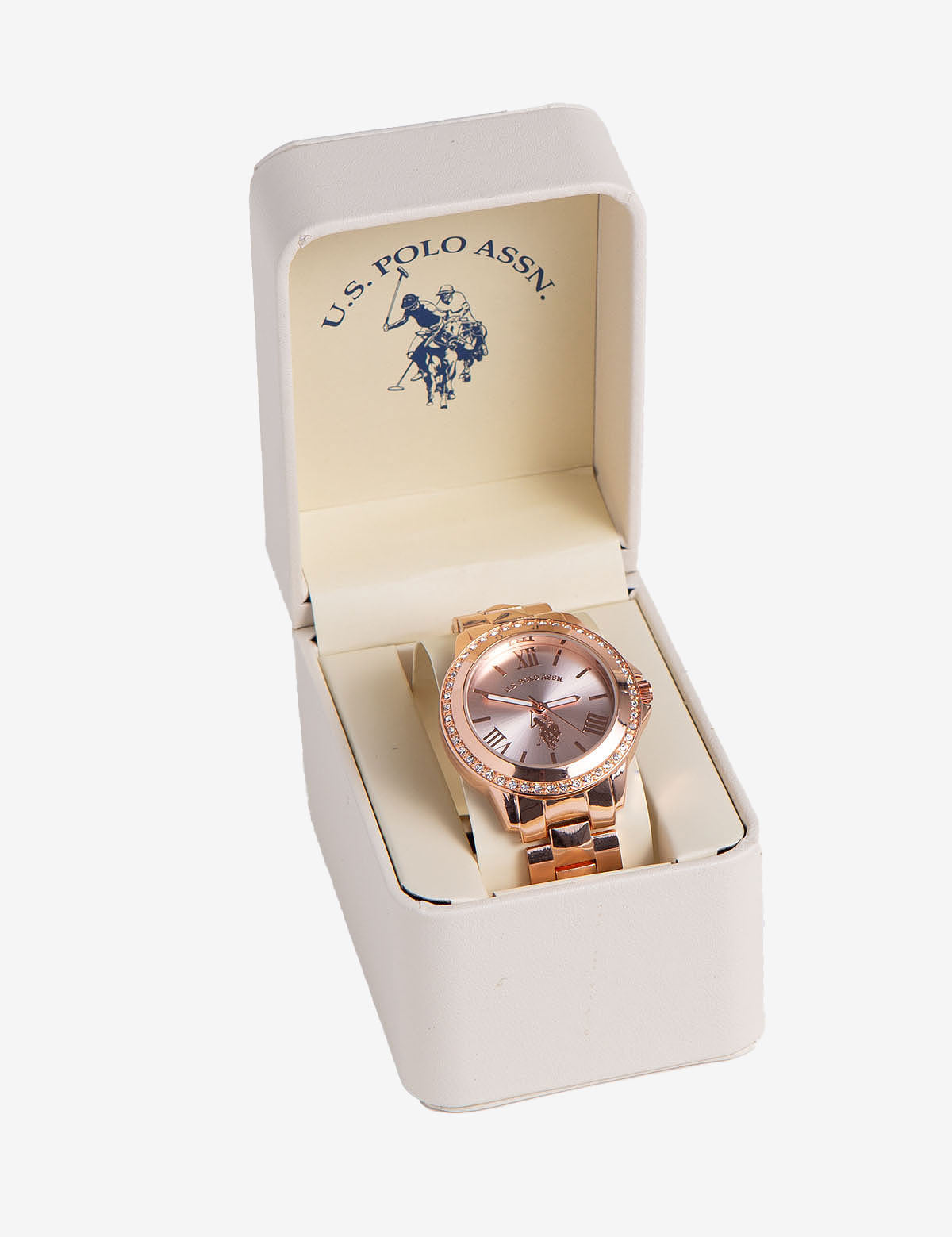 LADIES ROSE GOLD CRYSTAL WATCH - U.S. Polo Assn.