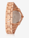 USPA WOMEN'S ROSE GOLD & RHINESTONE STUDDED WATCH - U.S. Polo Assn.