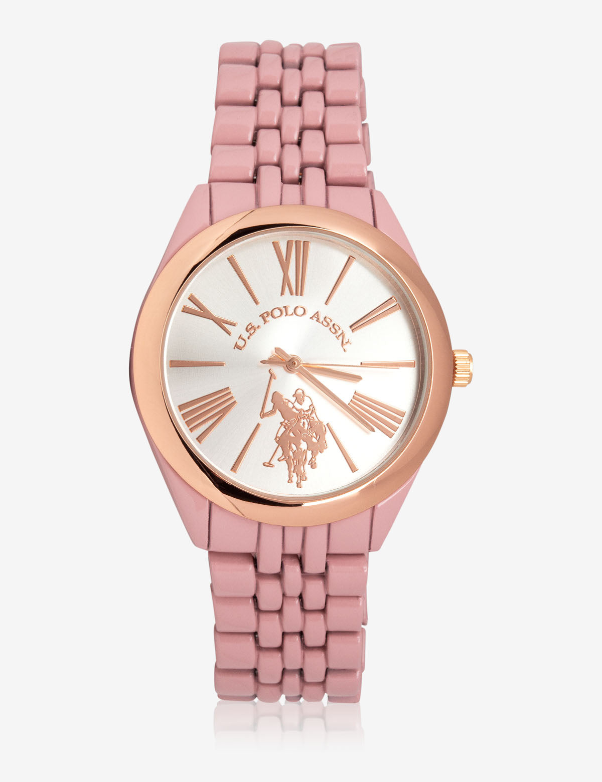 USPA WOMEN'S PINK & ROSEGOLD WATCH - U.S. Polo Assn.