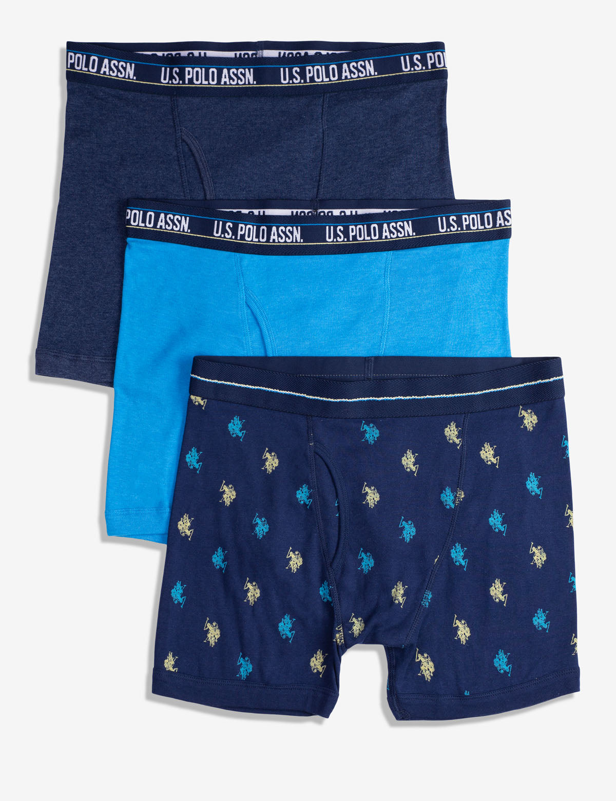 Blue Collection 3PK Cotton Boxer Briefs With Fly Pouch