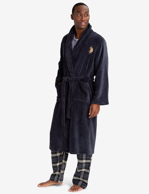 Polo Assn Mens Super Soft Plush Robe U.S