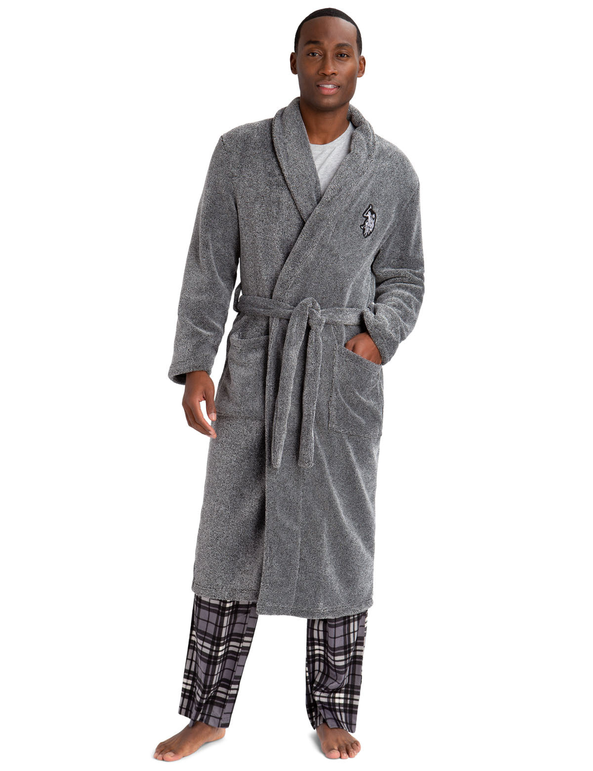 MARLED PLUSH ROBE - U.S. Polo Assn.