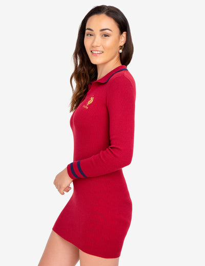 GOLD SWEATER DRESS - U.S. Polo Assn.