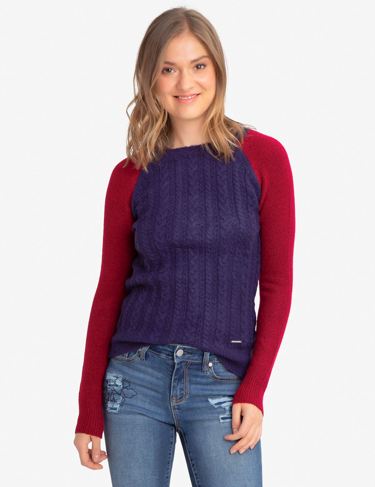 MIXED STITCH SWEATER - U.S. Polo Assn.