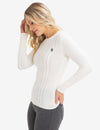 COZY CREW NECK CABLE SWEATER - U.S. Polo Assn.