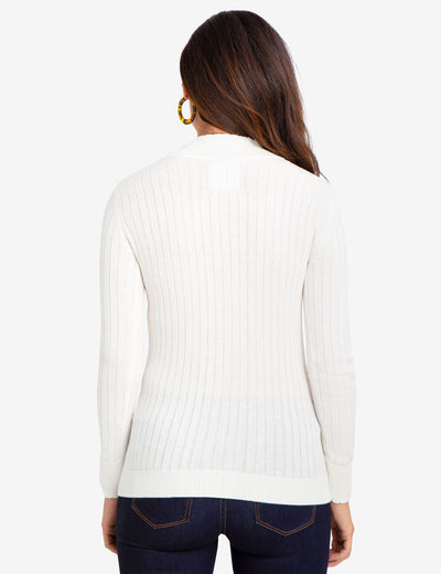 CABLE KNIT SWEATER WITH QUARTER ZIP - U.S. Polo Assn.