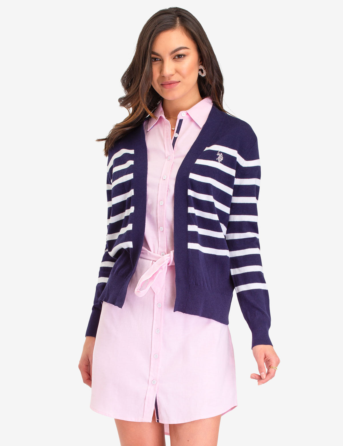 STRIPED CARDIGAN - U.S. Polo Assn.
