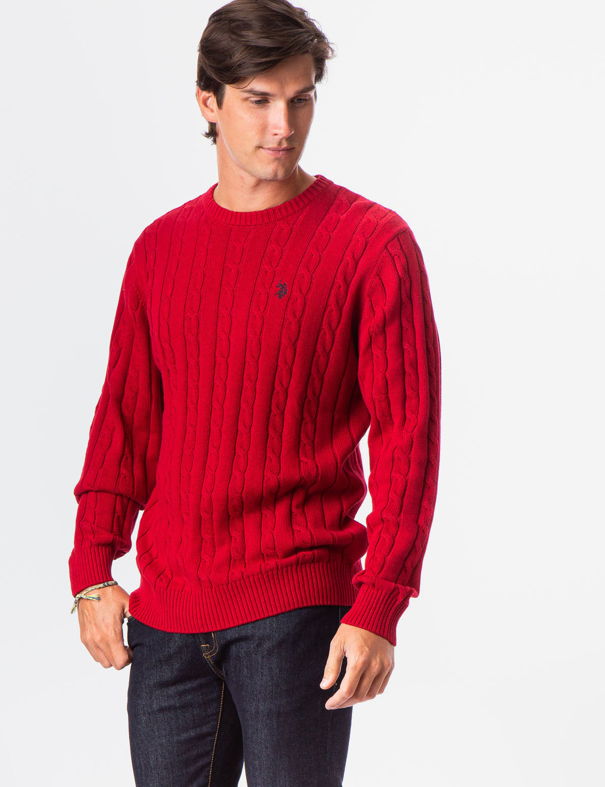 ALL OVER CABLE CREW NECK SWEATER - U.S. Polo Assn.