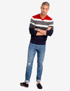 SOFT STRIPED V-NECK SWEATER - U.S. Polo Assn.