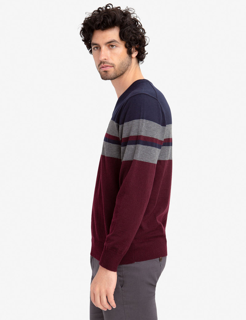 STRIPED V-NECK SWEATER - U.S. Polo Assn.