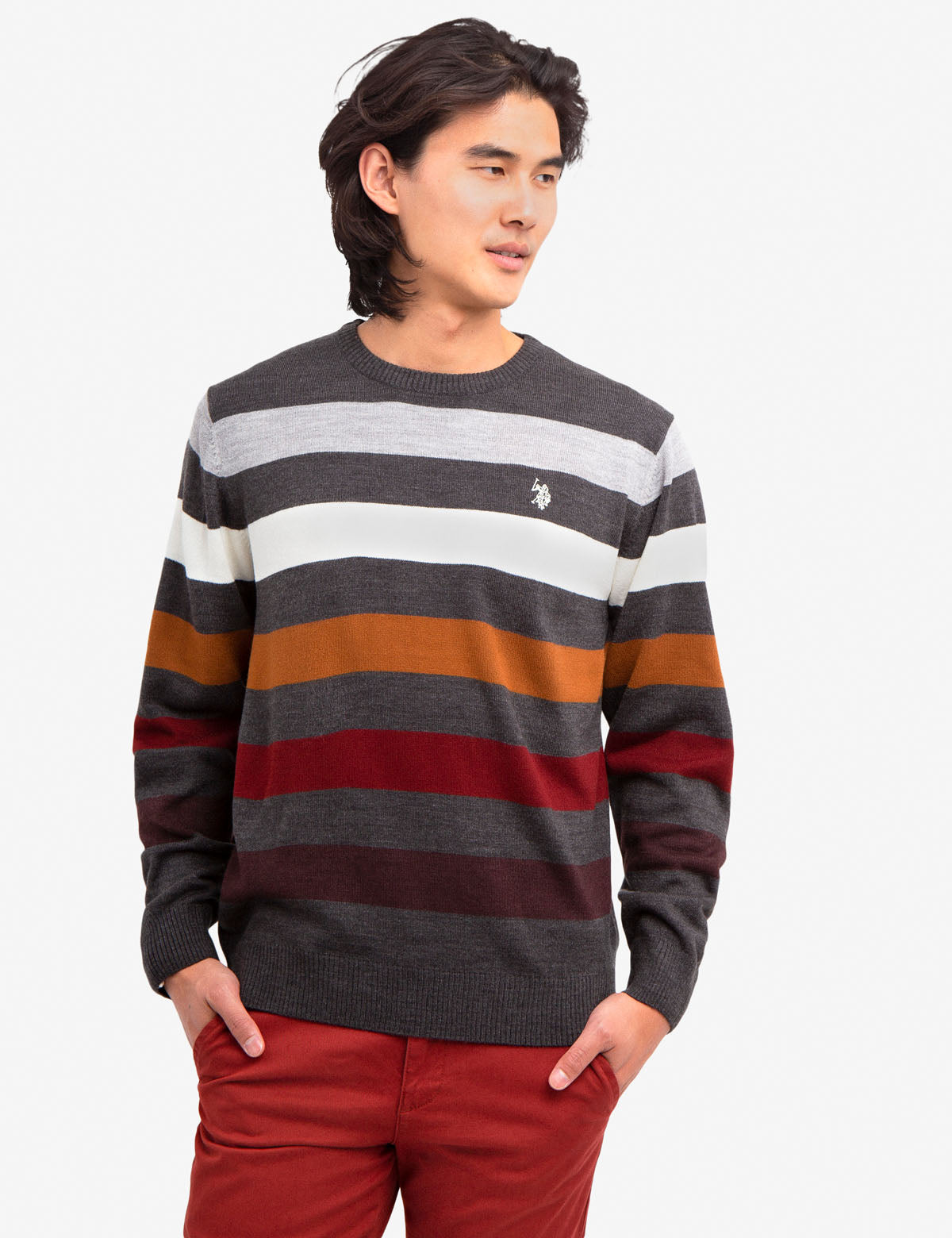 SOFT MULTICOLOR STRIPED SWEATER