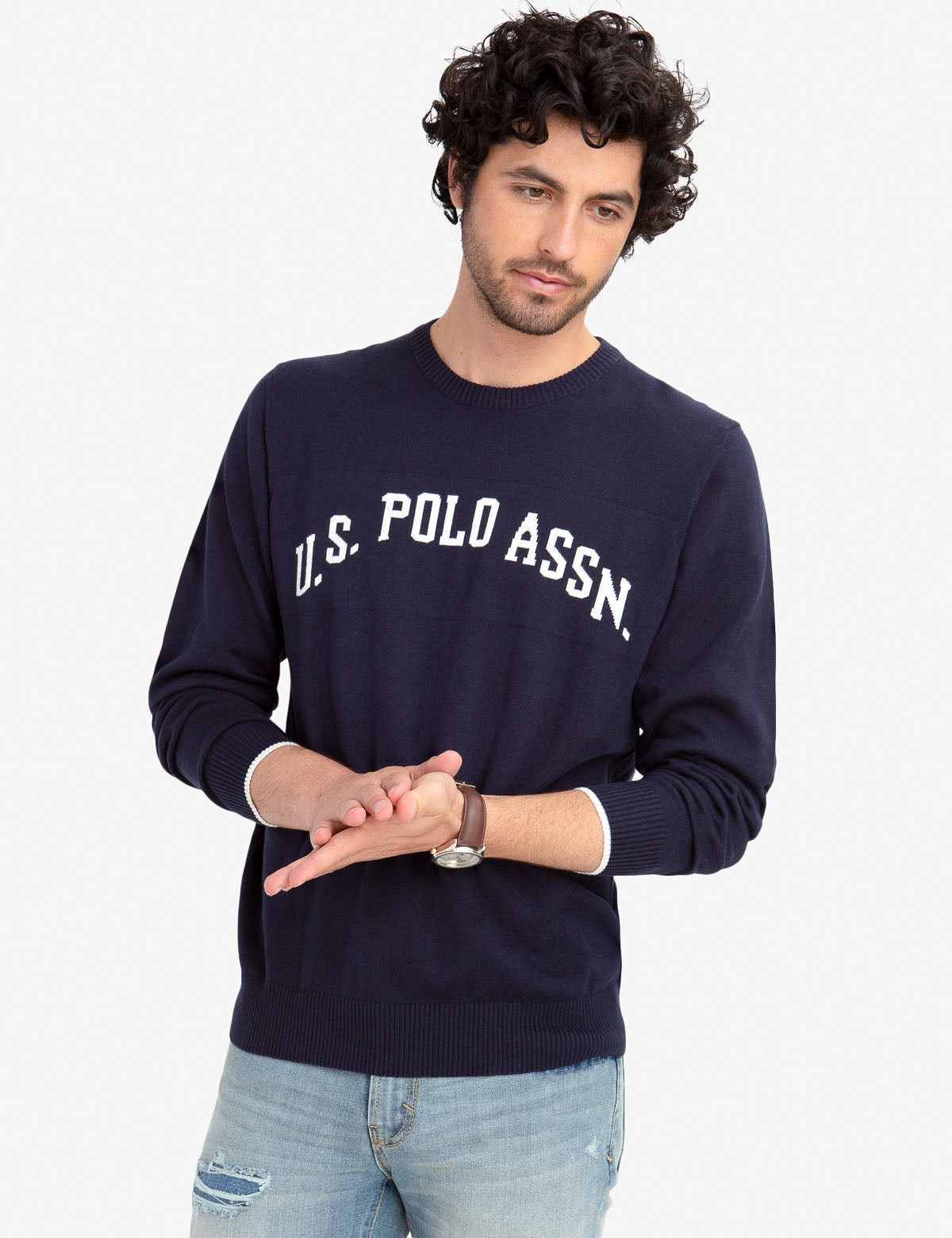JERSEY CREW NECK SWEATER