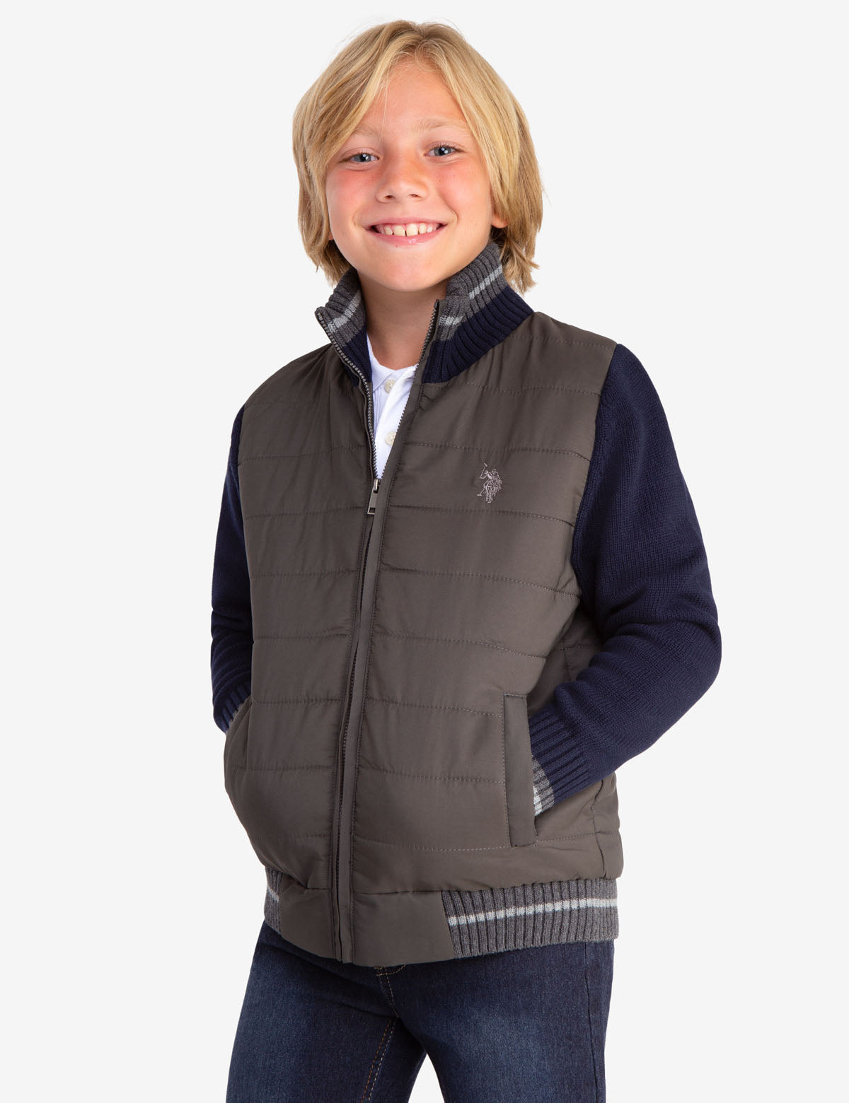 BOYS QUILTED JACKET - U.S. Polo Assn.