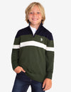 QUARTER ZIP ALL OVER STRIPED SWEATER - U.S. Polo Assn.