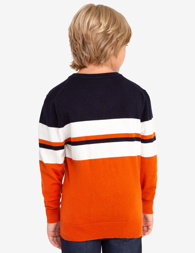 V-NECK STRIPED SWEATER - U.S. Polo Assn.