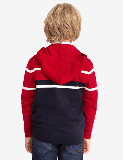 STRIPED ZIP UP HOODIE - U.S. Polo Assn.