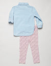 Toddler 2 Piece Set: Pleated Shirt & Leggings - U.S. Polo Assn.