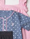 GIRLS 3 PIECE SET - SHIRT, TANK & LEGGINGS - U.S. Polo Assn.