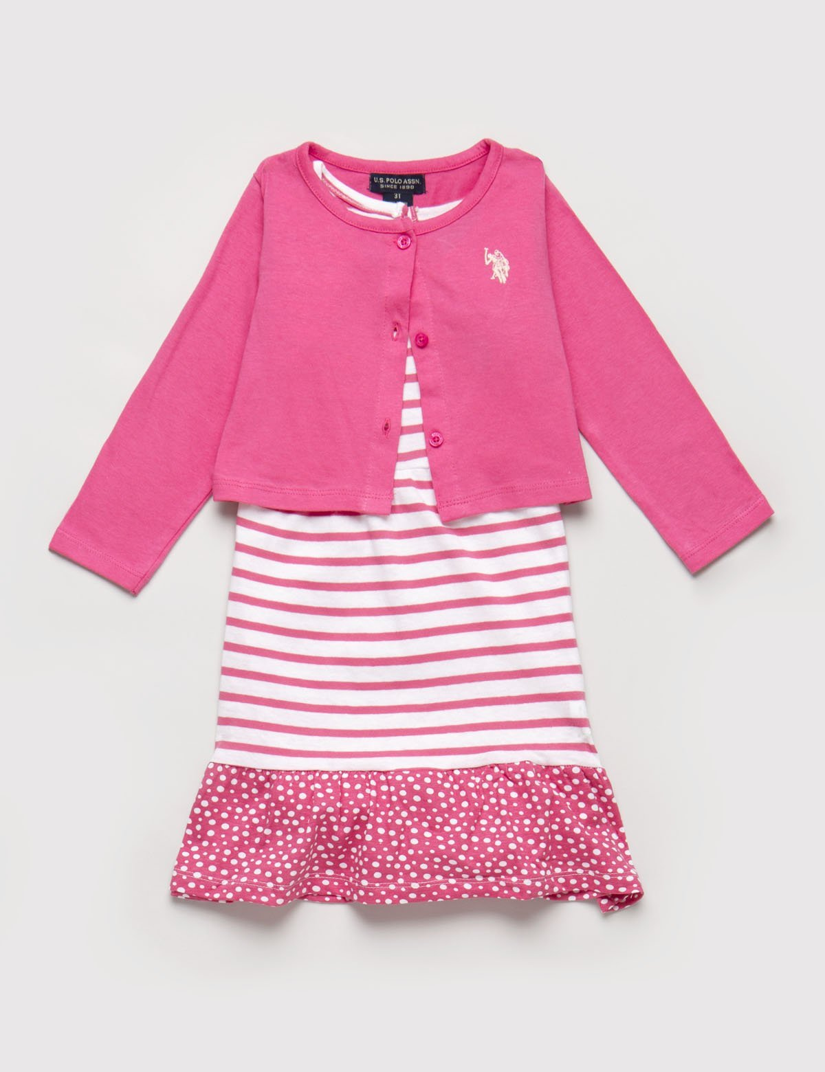 Toddler 2 Piece Set - Dress & Cardigan - U.S. Polo Assn.