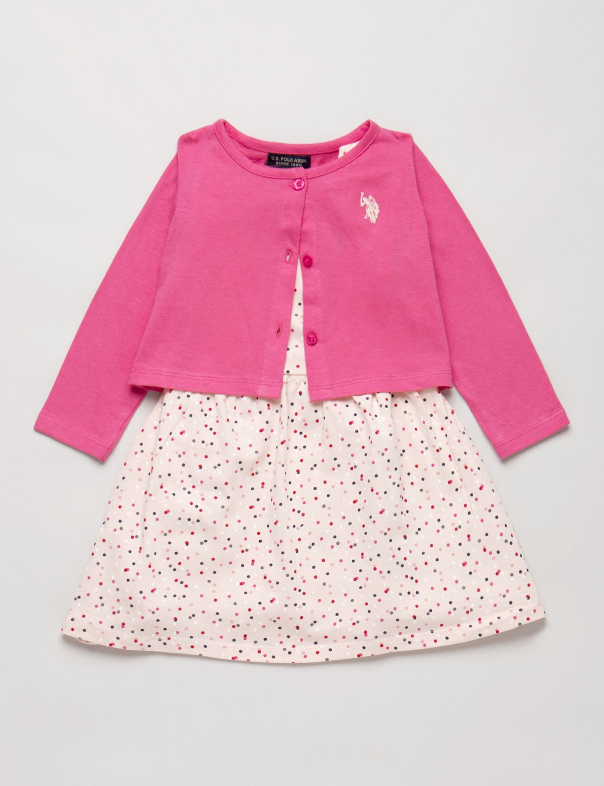Toddler 2 Piece Set: Dress & Cardigan