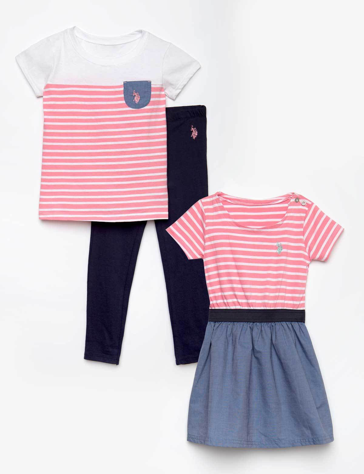 U.S Girls Fashion Top and Legging Set Polo Assn