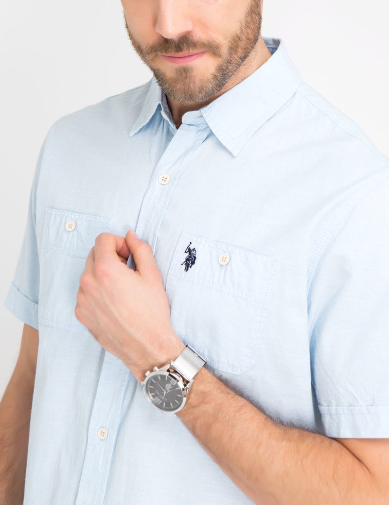 Slub Canvas Short Sleeve Shirt