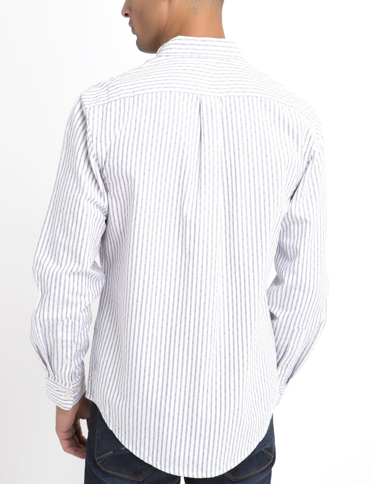 81ba41fc CLASSIC FIT DOBBY STRIPE SHIRT IN OXFORD - U.S. Polo Assn.
