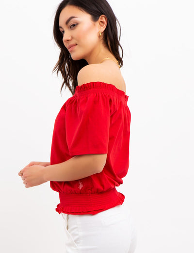 OFF THE SHOULDER TOP - U.S. Polo Assn.