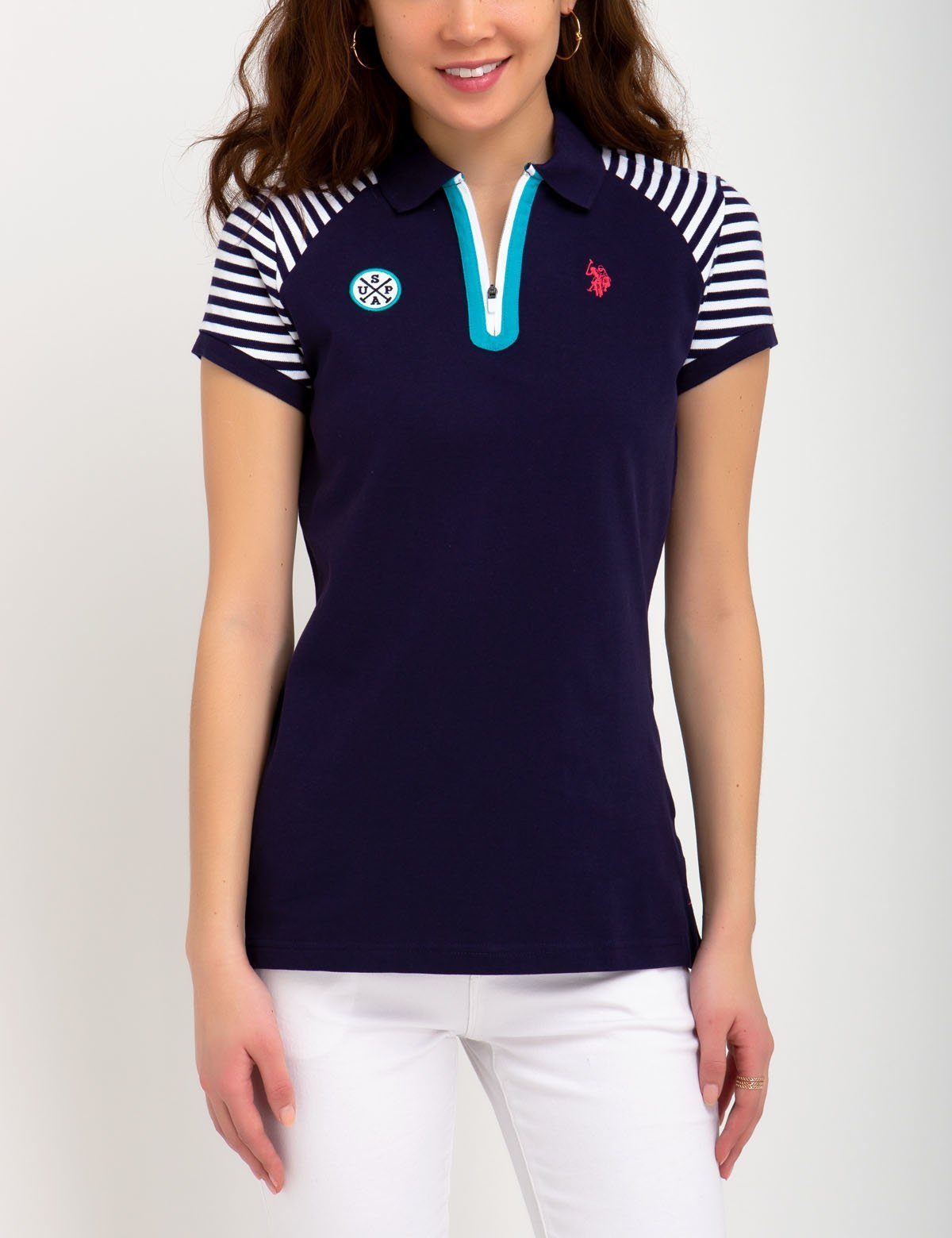 STRIPED SLEEVE POLO SHIRT - U.S. Polo Assn.
