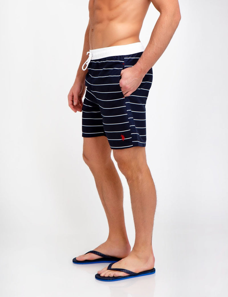 HORIZONTAL STRIPED SWIM TRUNKS
