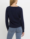 LUREX STUDS CABLE SWEATER