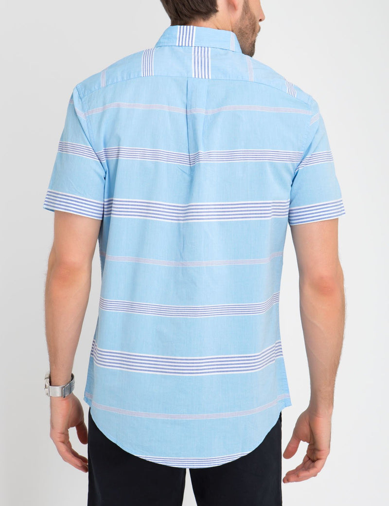 Horizontal Striped Madras Shirt